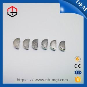 Nickel N35 Semi-Circular Magnet Performance Neodymium Magnet